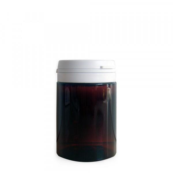 pot cosmétique en plastique ambré